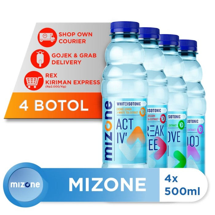 harga Mizone isotonik bernutrisi mix variants 500ml (4 botol) [p] Tokopedia.com