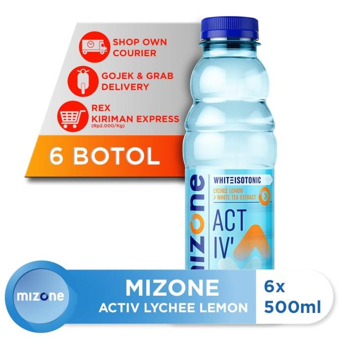 harga Mizone isotonik bernutrisi activ lychee lemon 500ml (6 botol) Tokopedia.com