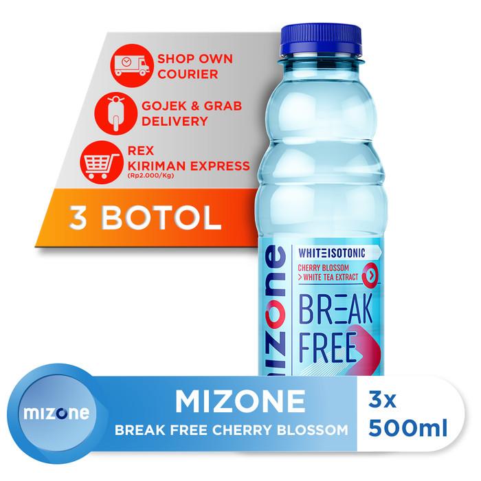 harga Mizone isotonik bernutrisi break free cherry blossom 500ml (3 botol) Tokopedia.com