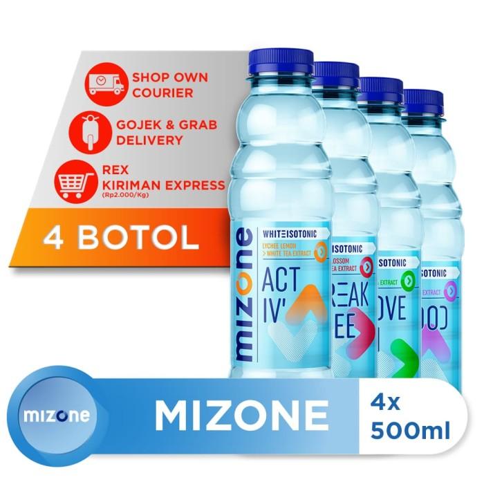 harga Mizone isotonik bernutrisi mix variants 500ml (4 botol) Tokopedia.com