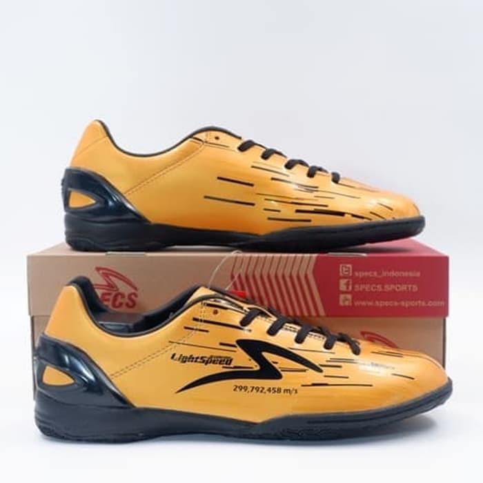 Jual Sepatu Futsal Specs Accelerator Lightspeed In Gold Rush