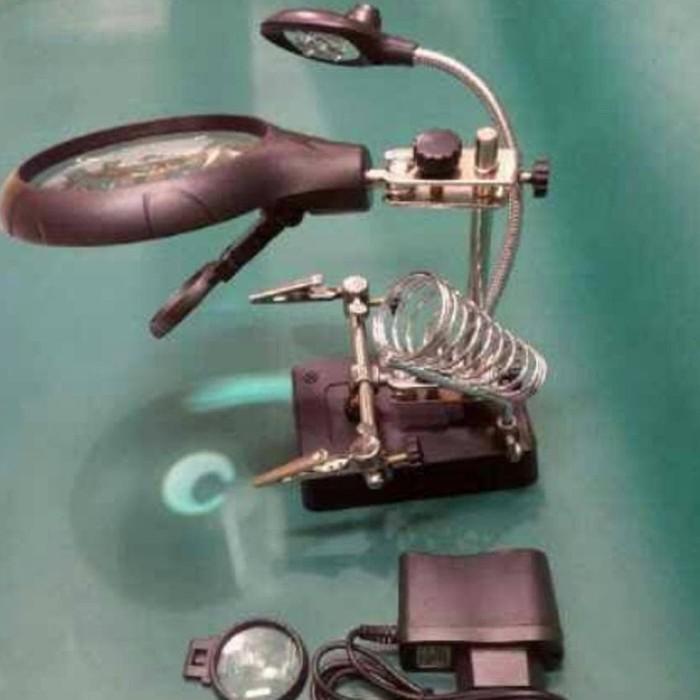 Foto Produk TERLARIS !! Holder PCB FullLup Dudukan solder dan Lampu 5 in 1 TERBARU dari Asti Shops