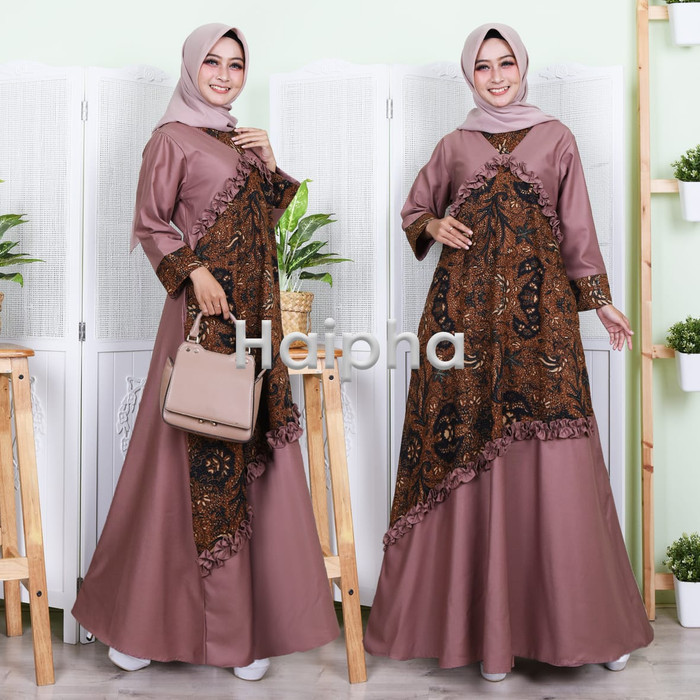 Jual Gamis Batik Kombinasi Katun Toyobo Yang Super Cantik Super Adem Jakarta Barat Cipetus Shop Tokopedia