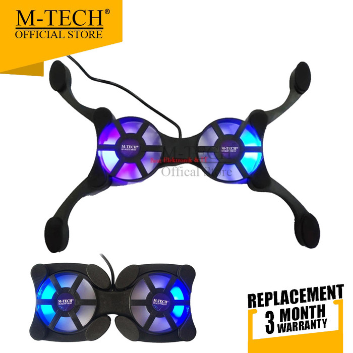 Foto Produk M-Tech Original Cooling Pad Kipas Pendingin Laptop Kepiting 919 dari M-Tech Official Store