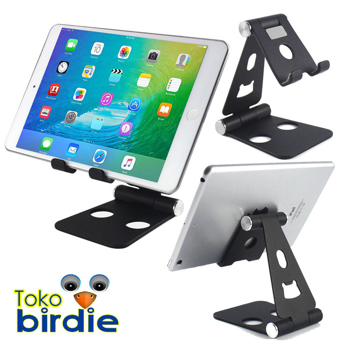 Foto Produk Universal Ipad Tablet Phone Stand Holder Mount Adjustable Desk Big - Hitam dari Toko Birdie
