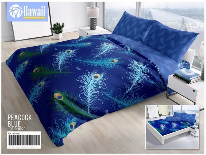 harga Sprei hawaii peacock blue queen 160 no.2 seprai bulu burung merak biru Tokopedia.com
