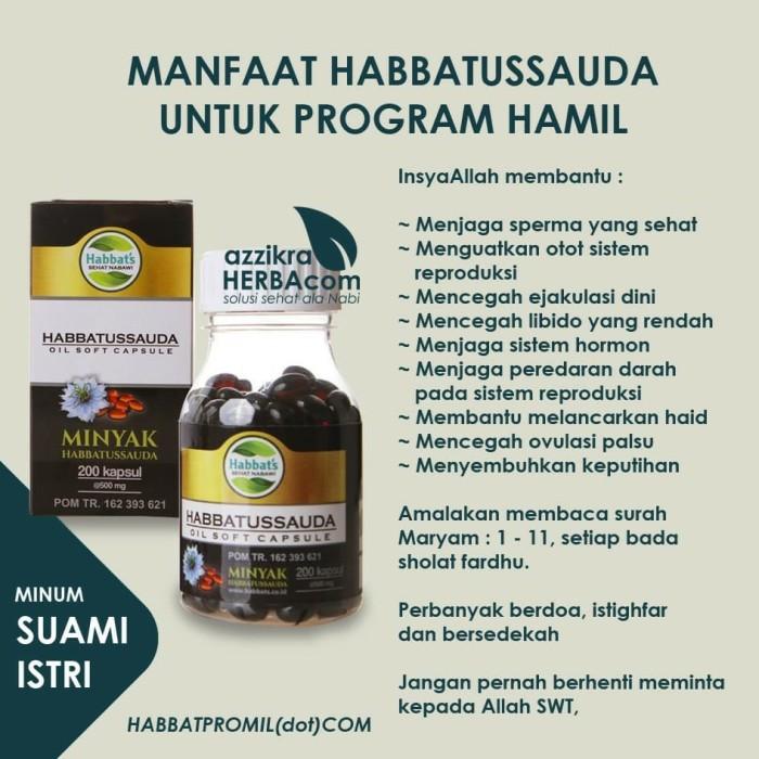 Jual Promil Habbats Habbatussauda Oil Soft Capsule Program Hamil Kab Bogor Toko Madu Az Zikra Tokopedia