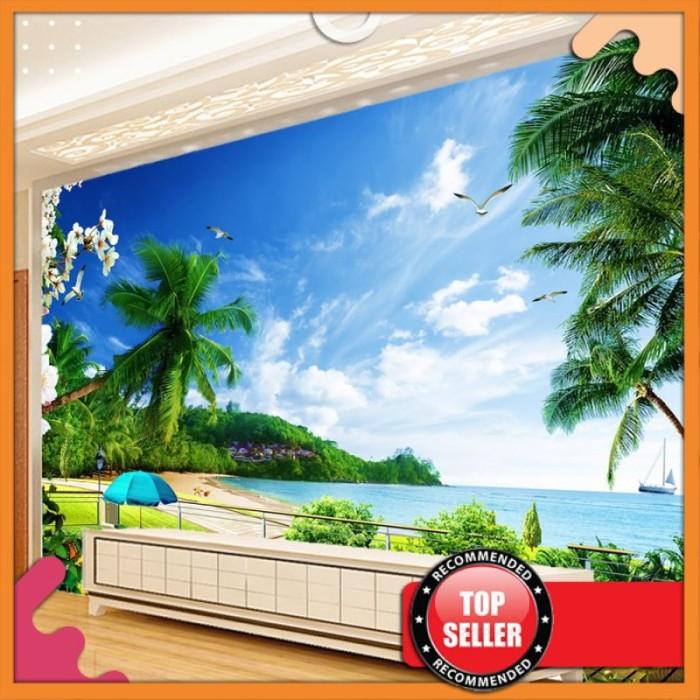 Jual HIGH QUALITY Kustom 3D Foto Wallpaper Pemandangan Pantai