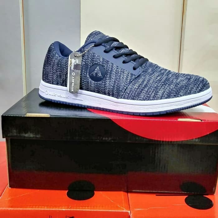Jual Sepatu Airwalk Original Casual Sneaker Feron Navy Men Kota