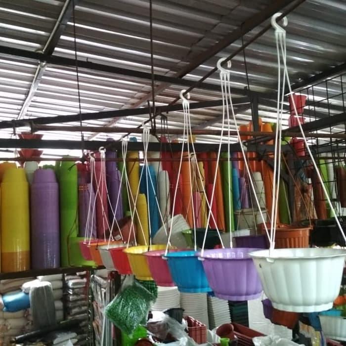 Jual Tri Pot Bunga Gantung Mawar Warna Warni 20cm Amp Gantungan