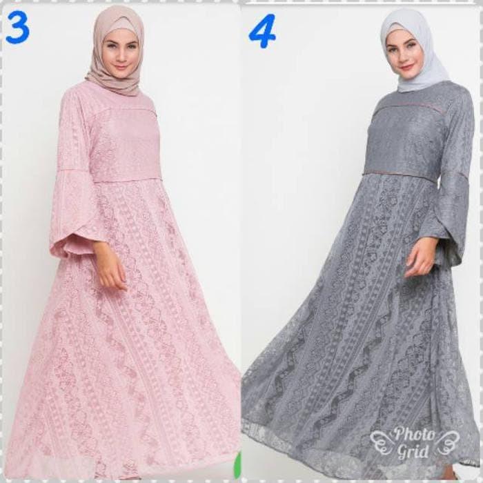Jual Liana Dress Muslim Brokat Lache By Lenajwa Ori Jakarta Barat Galleryzulaikha Tokopedia