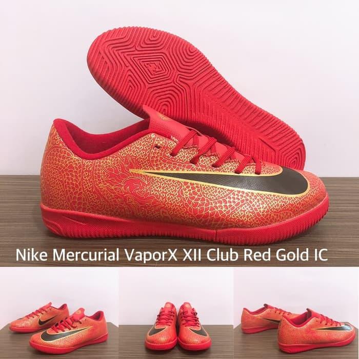 wholesale dealer 45b00 9bb09 Jual Sepatu Futsal Nike Mercurial Vapor XII Club Red Gold IC - Kota Batam -  Toko Bola Futsal Sukses | Tokopedia