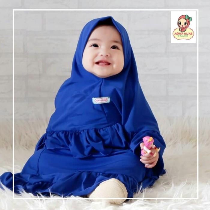 Foto Produk Gamis Set jilbab Anak perempuan gamisifa murah berkualitas size NB dari Demi Fajar
