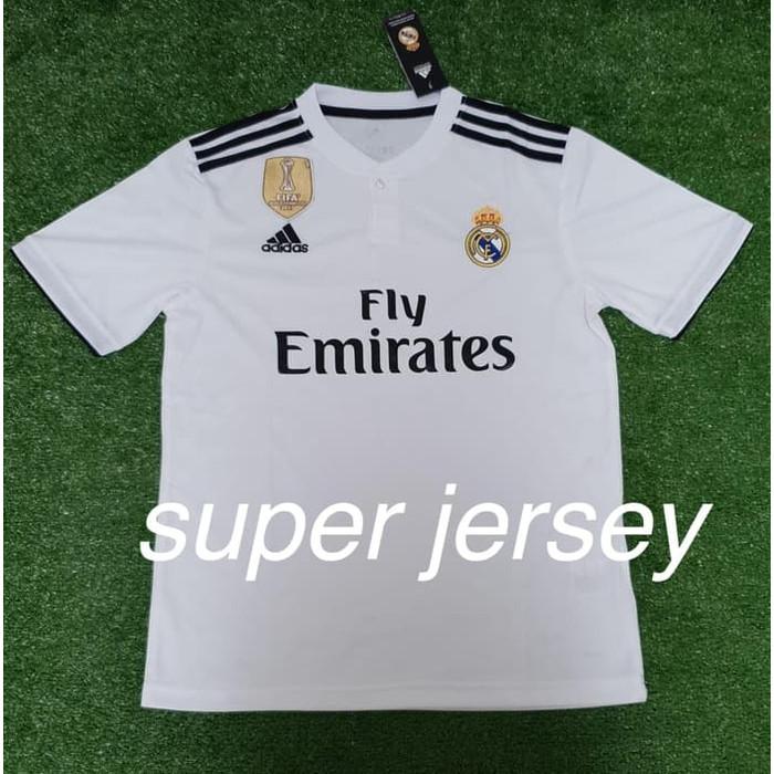 72575c8d5 Update Harga Kaos Jersey Bola Grade ORI Madrid Home Kaos Bola Jersey ...