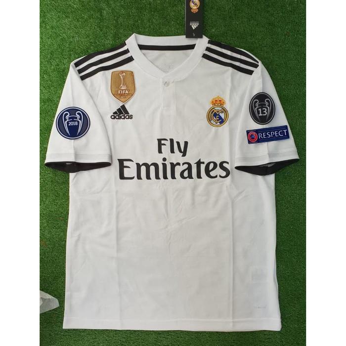 857835c4a Jual Murah Kaos Jersey Bola Grade ORI Madrid Home FULL PATCH Kaos ...