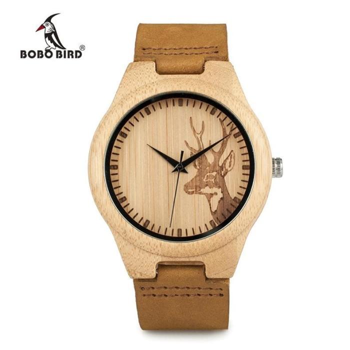 Bobo Bird Jam Tangan Bambu Analog Wanita - Wn20 - Brown - Harga
