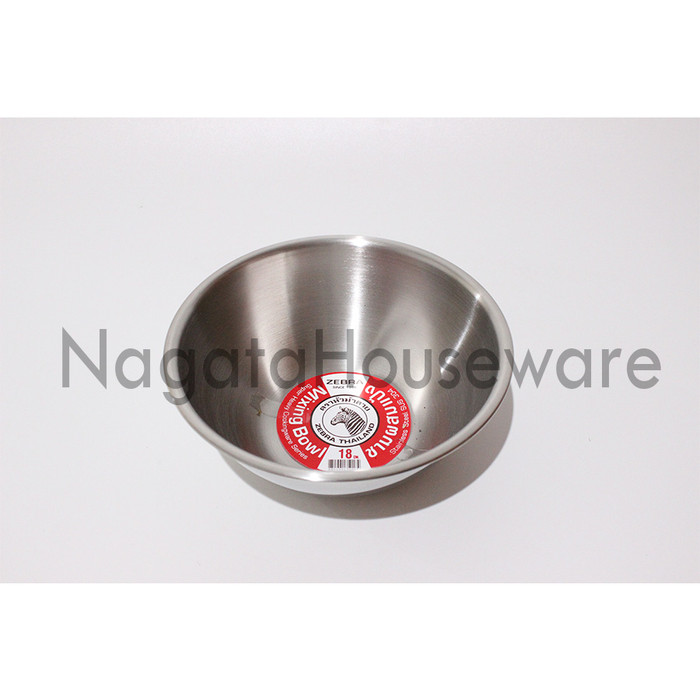 harga Baskom aduk adonan stainless steel / mixing bowl zebra 135018 kualitas Tokopedia.com