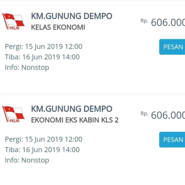 Jual Jual Tiket Pelni Tanjung Perak Surabaya Ke Makassar Rp 606 000 Kota Surabaya Yubie Tour And Travel Tokopedia