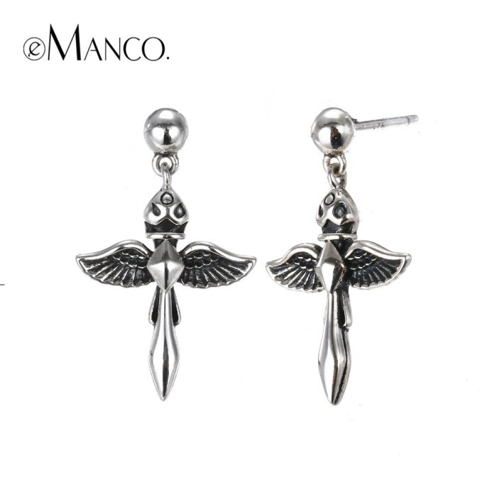 GOTH LOOK Silver Long Cone Shaped Earrings LOT for BARBIE Jewelry Accessories