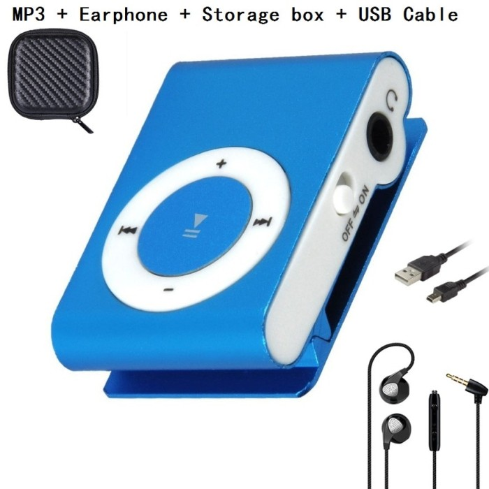 Multicolor Portable ABS Waterproof FM Function USB Clip 8GB MP3 Player+Headphone