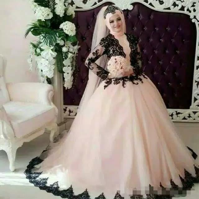 Jual Gaun Pengantin Muslim Gaun Akad Nikah Hijab Gaun Pengantin Hijab Kota Medan Pamella Fashion Tokopedia