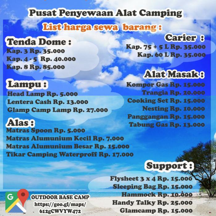 Jual Sewa Alat Outdoor Jakarta Pusat Base Camp Outdoor Tokopedia