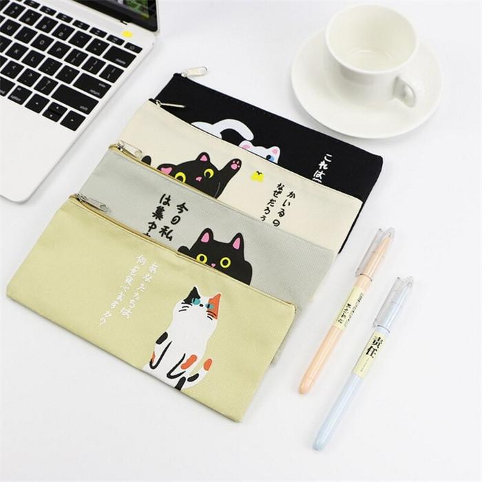 Foto Produk TP0024 Tempat pensil Japanese Hello Cat / Tempat Kosmetik - hello cat empat dari EnnWen Online Store