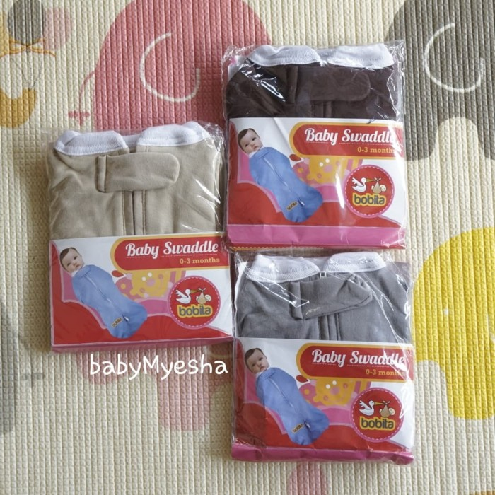 Bobita baby instant swaddle pod bedong bayi newborn instan zipper