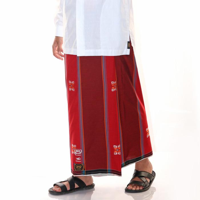 Foto Produk Sarung BHS Gold Classic motif SKT KMB Merah dari Sarung BHS Official