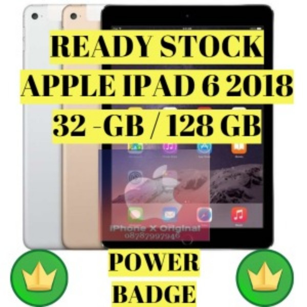 harga New ipad 6 9.7  inch 2018 wifi cell 32gb 32 grey / gold / silver Tokopedia.com