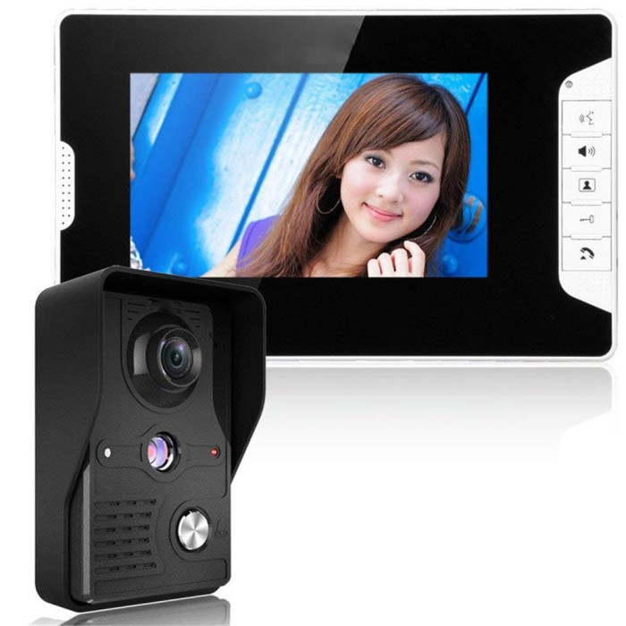 Foto Produk Kamera Pintu Intercom Doorbell LCD Monitor 7 Inch - 813MKB11-EU dari BudgetGadget