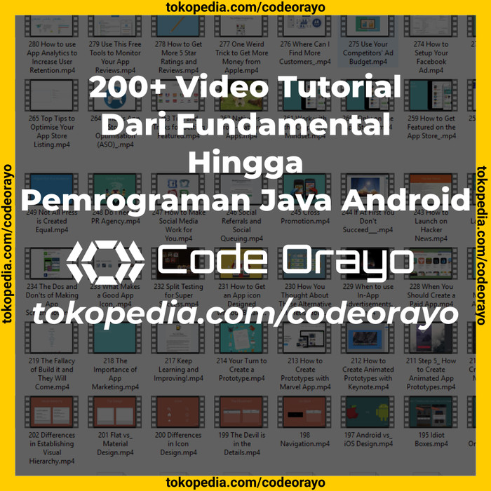 harga Flashdisk + video tutorial + 750 source code program aplikasi android Tokopedia.com