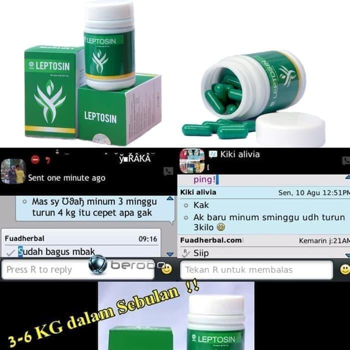 Foto Produk Obat Diet Pelangsing Leptosin Slim Kapsul Nature 100% Original BPOM dari Istiqomah-Store