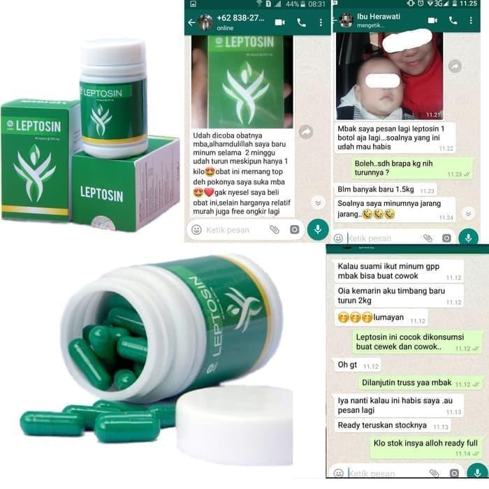 Foto Produk Leptosin Obat Herbal Pelangsing Hilangkan Lemak Perut Badan Tubuh Asli dari Istiqomah-Store