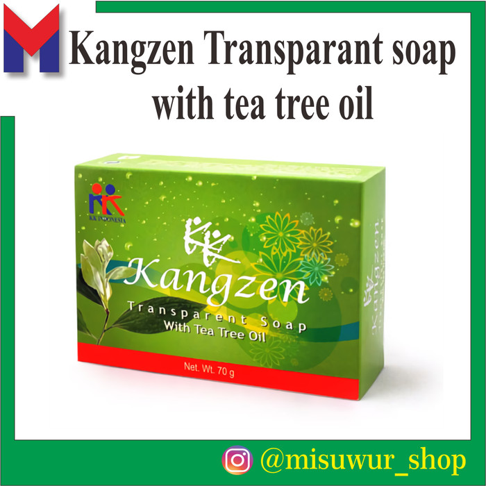 Foto Produk Kangzen Transparant Soap With Tea Tree Oil KK Indonesia ORIGINAL dari Misuwur Shop