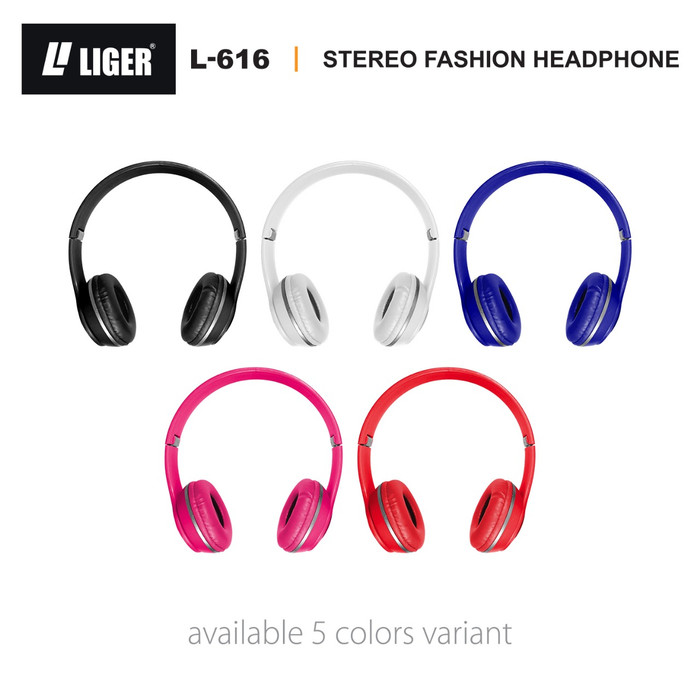 Foto Produk LIGER L-616 Headset Headphone Earphone Handsfree Bass with Mic - Putih dari LIGER OFFICIAL STORE