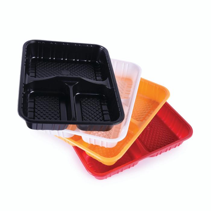 Foto Produk Grosir Kotak / Tray / Box / Mika Plastik untuk Bento atau nasi RTR 223 - Hitam dari Amanamart