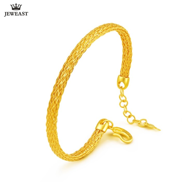 Jual 24k Pure Gold Bracelet Real 999
