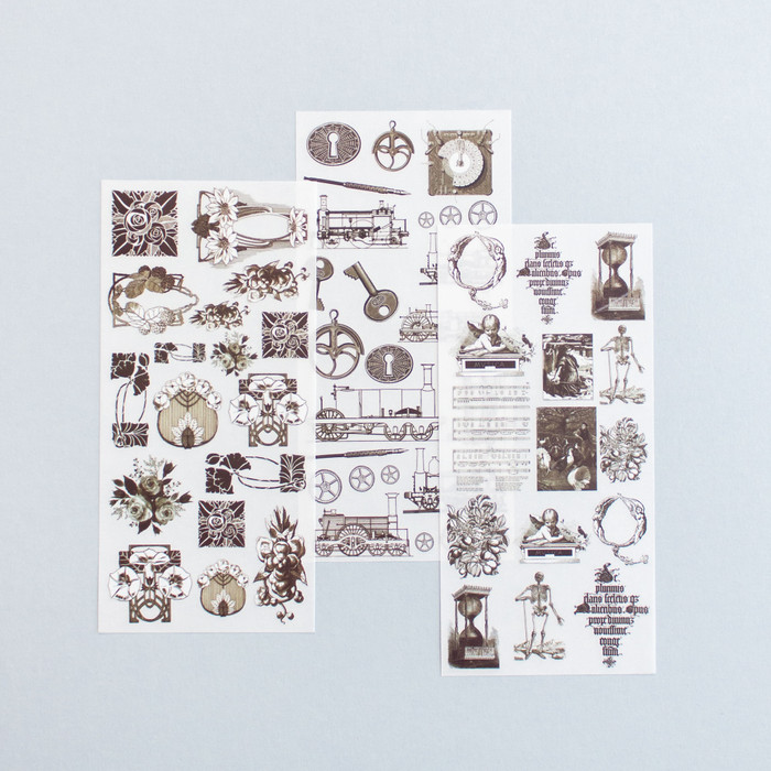 Foto Produk Rub-on Sticker Vintage Decorative Ornaments dari gudily