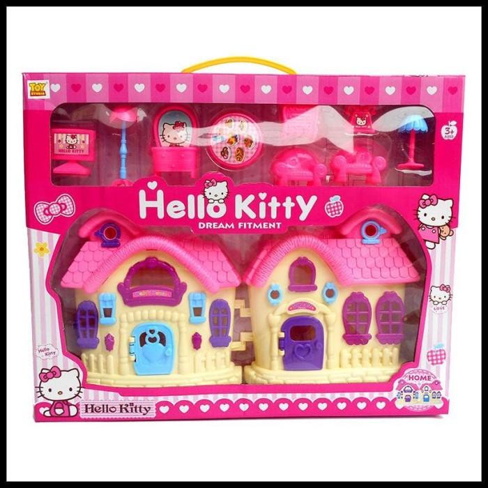 Gambar Sofa Ruang Tamu Hello Kitty  jual sweet house hello kitty mainan rumah rumahan terbaru jakarta barat viksmy8 tokopedia