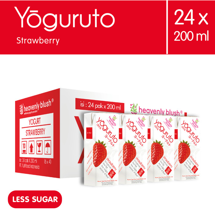 Heavely blush yogurt drink to go strawberry 24x200ml