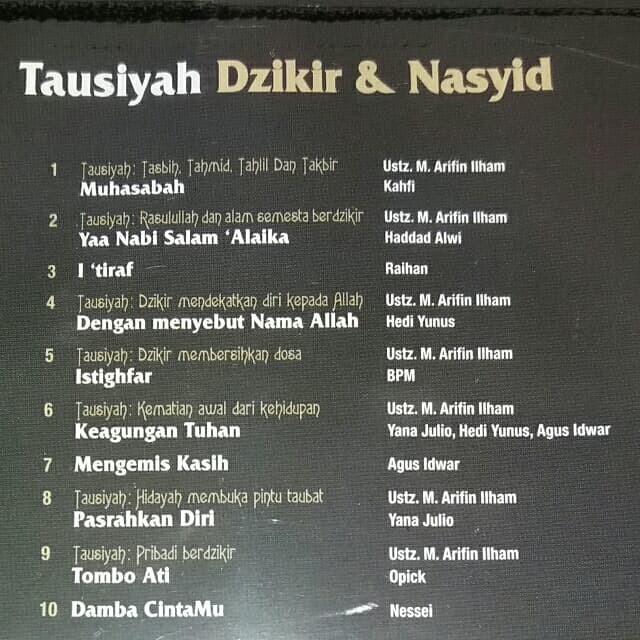 Jual CD Ust  Arifin Ilham - Tausiyah Dzikir & Nasyid - DKI Jakarta - Mascis  Junior | Tokopedia