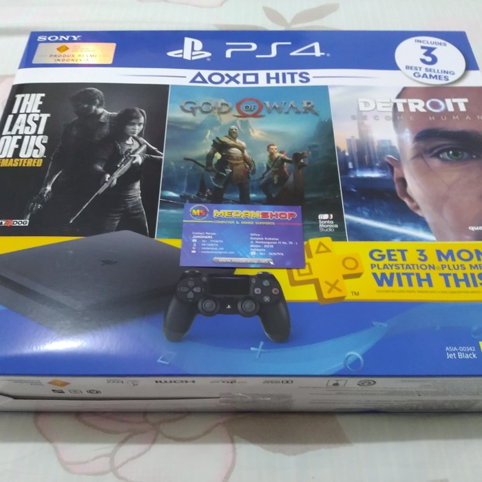 Foto Produk SONY Playstation 4 Slim 1 TB (Bundle Hits) dari MEDANSHOP.net