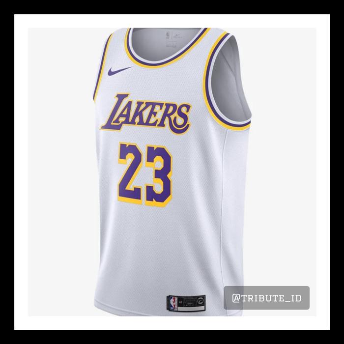 finest selection a6215 3db1f Jual Jersey Baju Basket Nike Swingman Lebron James White Putih LA Lakers -  DKI Jakarta - TRIBUTE_ID | Tokopedia