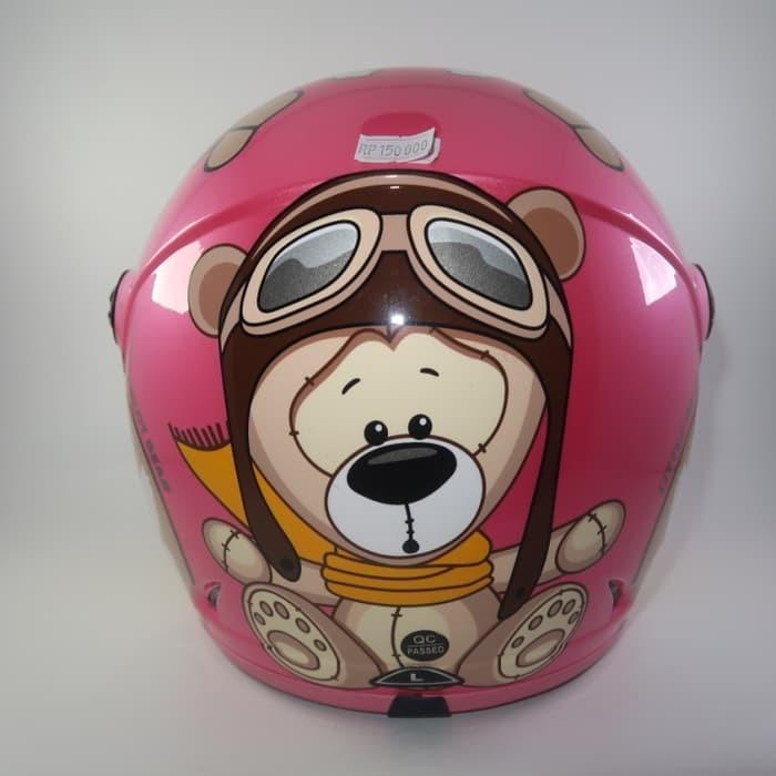 Helm anak SNI Little Bear Pink TERMURAH
