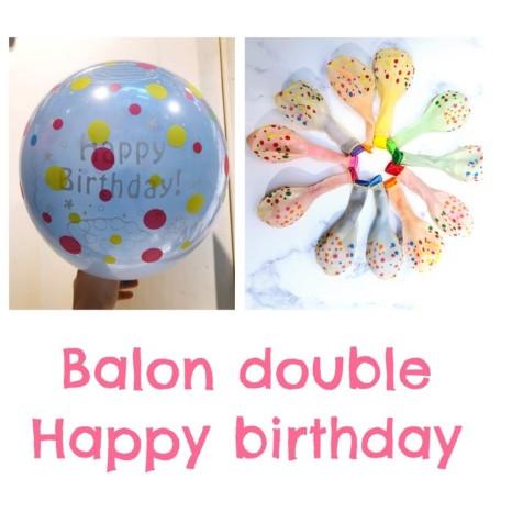 Jual Balon Latex Double Happy Birthday Jakarta Utara Daisuki Shoppu Tokopedia
