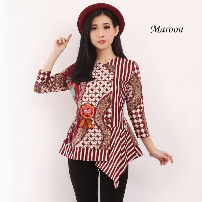 Jual Blouse Batik Modern Wanita Baju Atasan Blus Murah Cewek Terbaru Cewe Dki Jakarta Rafa Fathina Store Tokopedia