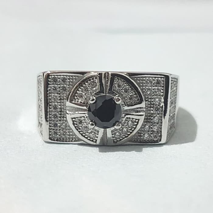Jual Cincin Laki Silver Batu Hitam 04 Kota Cirebon Silver
