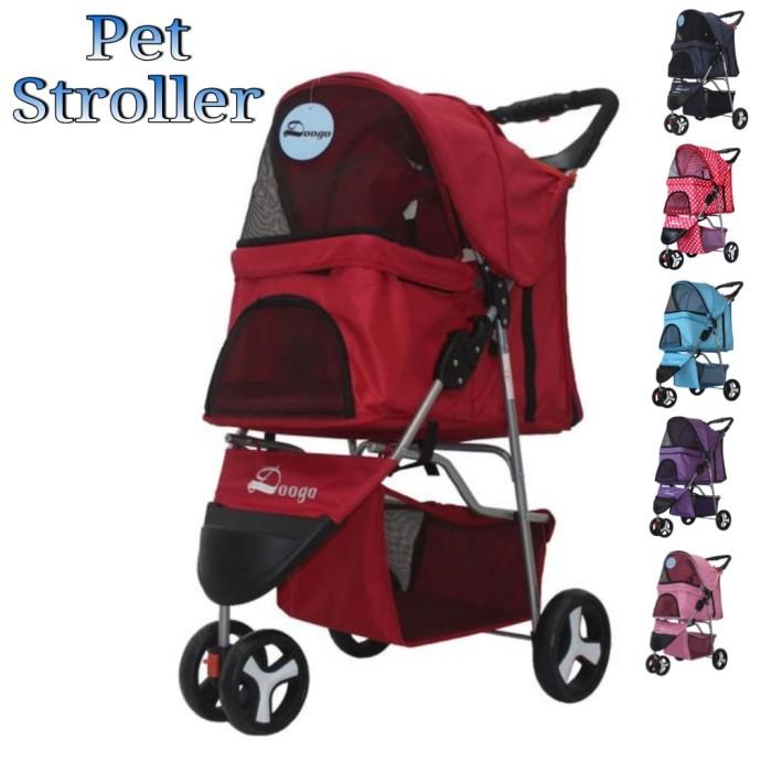 harga Pe112 pet dog stroller kereta dorong anjing kucing 3 roda Tokopedia.com