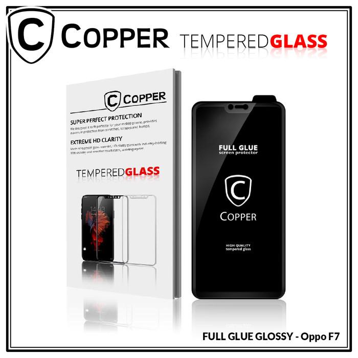 Foto Produk Oppo F7 - COPPER Tempered Glass Full Glue PREMIUM dari Copper Indonesia